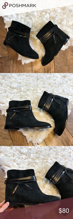 Alice and Olivia Suede Hidden Heel Ankle Boots Excellent condition with no flaws Alice + Olivia Shoes Ankle Boots & Booties
