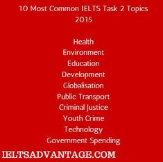 ielts essay writing ideas