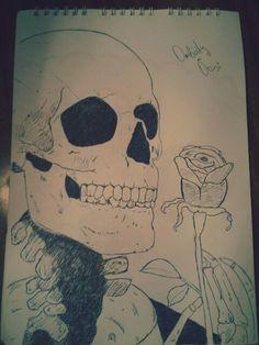 Elegante skull end roses