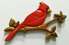 Large Cardinal Intarsia Woodworking Furniture, Woodworking Projects, Intarsia Wood Patterns, Art Projects, Projects To Try, Melting Glass, Intarsia Woodworking, Scroll Saw, Cardinals