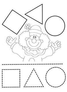 Colorear Aprender a dibujar las tres formas geométricas