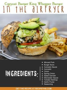 Copycat Recipes | Copycat Burger King Whopper Burger In The Airfryer