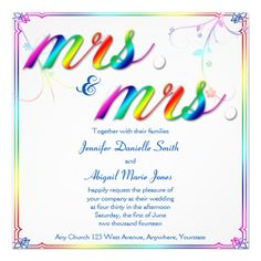 discount dealselegant rainbow floral mrs wedding invitationso please read the important details before your purchasing - Rainbow Wedding Invitations