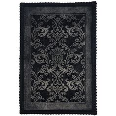 Homescapes Cotton Check Border Black Pedestal Mat Liked - Black and white floral bath rugs for bathroom decorating ideas