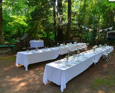 on tables are ideal for outdoor weddings Wedding Rentals, Outdoor Weddings, Outdoor Furniture Sets, Outdoor Decor, Spice Things Up, Tables, Dining Table, Wedding Ideas, Dinner