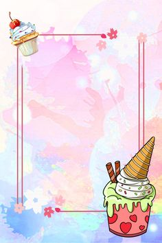 Summer Ice Cream Cone Background