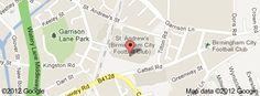 Google map St Andrews Stadium