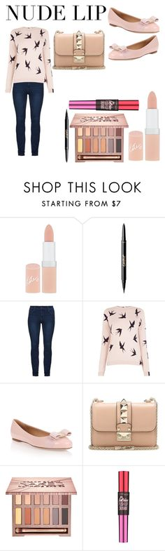 """""""nothing but nudes"""" by simonekellycoadlutwyche ❤ liked on Polyvore featuring beauty, Rimmel, tarte, Oasis, Salvatore Ferragamo, Valentino, Urban Decay and Maybelline"""