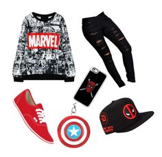 Marvel by isasaurus on Polyvore featuring polyvore, fashion, style, Boohoo, Vans, Casetify and clothing