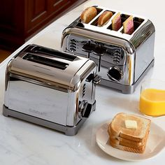 Cuisinart ® Classic Toaster - Crate and Barrel Crate And Barrel, Kitchen Dining, Kitchen Decor, Kitchen Stuff, Kitchen Ideas, Top Blenders, Charleston Homes, Electrical Appliances, Keep It Simple