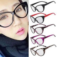 Hot Fashion Retro Sexy Women Eyeglasses Frame Cat Clear Lens lady Eye Glasses Drop Shipping