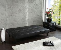 Schlafsofa Samba 177x95 Schwarz Sofa mit Schlaffunktion [4578]