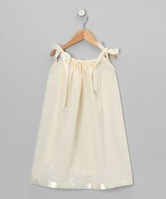 Take a look at this Ivory Lace Swing Dress - Infant, Toddler & Girls by Cozy Bug on #zulily today!