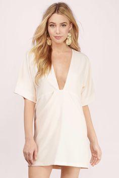 Good Life Plunging Shift Dress Formal Dresses For Women d26439da6531