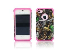 ANTI-SHOCK HYBRID 2 IN 1 MOSSY OAK CAMO HUNTER IPHONE 4 4S COVER CASE PINK THICK SILICONE INSIDE AND HARD PLASTIC RUBBERIZED COVER OUTSIDE, http://www.amazon.com/dp/B00A89IEMY/ref=cm_sw_r_pi_awdm_CGLQsb0R095GK