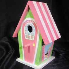 handpainted birdhouses | Hand Painted Bird Houses, Tissue Boxes and Gifts | Handmade Jewlery ...
