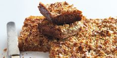 Caramel Anzac slice - delicious and really bad for you! Yum.