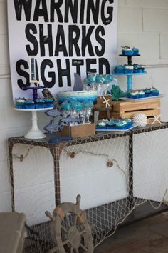 Shark Party Decor (L