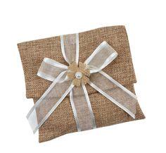 Μπομπονιέρα Γάμου Φάκελος Λινάτσα με Κορδέλα Burlap, Reusable Tote Bags, Hessian Fabric, Jute, Canvas