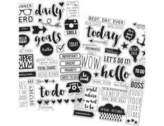 Carpe Diem Clear Planner Stickers - 4 Sheets - Simple Stories - 506762
