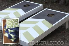 DIY Corn Hole Game and Bean Bags on The Blissful Bee Blog!