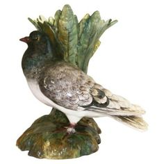 Check out this item at One Kings Lane! Majolica Pigeon Vase