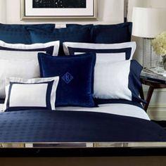 ralph lauren navy bedding