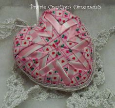 valentine quilted ornament heart