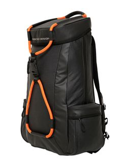 buy popular f91eb 2e9f1 Porsche Design Sport By Adidas Water Repellent Coated Ripstop Backpack in  Orange for Men (BLACK