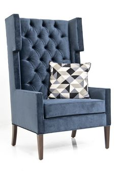 Great blue color!  This is pinned for color only - NOT for  chair style.