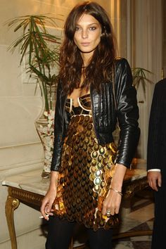 this is an old pic, but whatev. gold and leather's still in :) Daria Werbowy