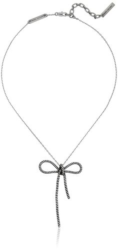 Marc Jacobs Rope Bow Pendant Necklace. Imported. marc jacobs fashion jewelry. SIZE: ONE SIZE. MARC JACOBS.