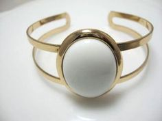 Vintage Avon Cuff  Bracelet Accent in White by EclecticVintager, $18.00