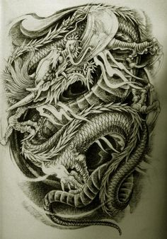 Oriental Dragon Tattoo Style (8)