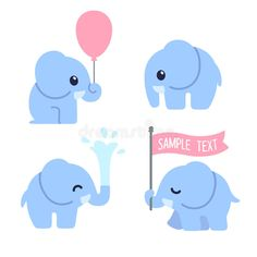 Illustration about Cute cartoon baby elephant set. Adorable elephant illustrations for greeting cards and baby shower invitation design. Illustration of elephant, cute, adorable - 69219572 Cute Elephant Cartoon, Cute Baby Elephant, Baby Cartoon, Cute Cartoon, Cute Borders, Elephant Illustration, Mascot Design, Cute Babies, Kawaii