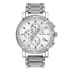499b6c11817 Τιμή από 500€   BULOVA Diamonds Stainless Steel Chronograph 96E03