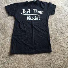 Buy now $part-time model black T-shirt Part-time model black T-shirt Tops Tees - Short Sleeve