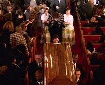Whitney Houston's funeral - the fur was certainly flying  PLEASE SHARE