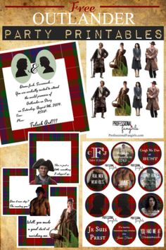 FREE Outlander Party Printables! Ha!  Wouldn't this be just too much, but kinda fun too! ;)