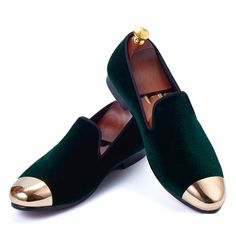 >> Click to Buy << Harpelunde New Arrival Men Loafers Green Velvet Slippers Handmade Dress Shoes Size 7-11 #Affiliate