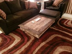 Ideas Interior. Classy Pallet Ideas From Used Wood Into Marvelous Design Inspiration: Favored Brown Fabric Living Room Sofa Set Added Rectangle Unpainted Pallet Ideas On Brown Full Areas Living Room Rugs Views