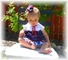 Learn how to make this bow and this dress on this blog
