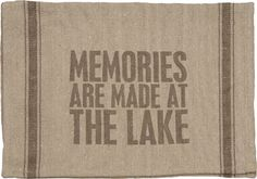 DIsh Towel - At The Lake | $9.20 www.lakerabuntrading.com
