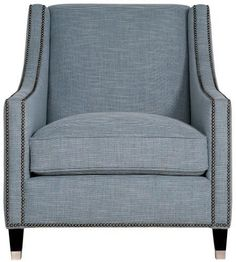 Palisades Chair | Bernhardt N2872 W 31.5 D 37 H 35 SH 17 AH 23 SD 23 BA 25 #Tapered Leg #Sweep Arms $1457.50