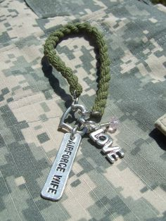 Green BOOT BAND Blouser Bracelet Air Force Wife by Jennspieces, $11.99 I think I could make this