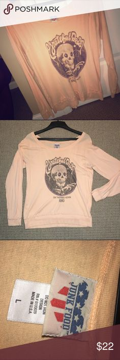 PEACH GRATEFUL DEAD L/S TEE Junk food, super soft, Grateful Dead Long sleeve tee shirt! Would be a great purchase | worn once Junk Food Tops Tees - Long Sleeve
