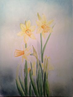 Spring is in the. On paper! Watercolor, Paper, Spring, Painting, Art, Pen And Wash, Art Background, Watercolor Painting, Painting Art
