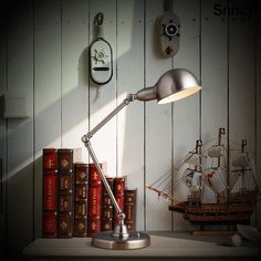 Cheap desk lamp modern, Buy Quality lamp service directly from China desk bed Suppliers: Modern American fashion office iron arm folding metal table lamp home decorative standing light bedroom desk lampMode