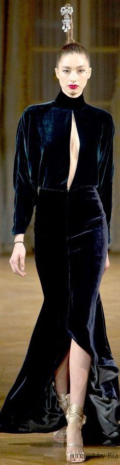 Alex Mabille Couture l Ria ~ETS #bluevelvet #alexmabille #sublimefashion