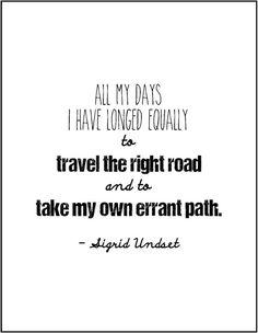 Sigrid Undset literary quote birthday gift by JenniferDareDesigns, $8.00